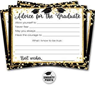 Graduation Advice Cards 30 Pack | Advice for 2019 High School College University Graduate | Printed on Recycled Card Stock