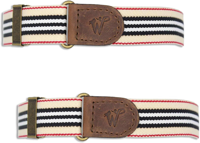 Sleeve Garters The Roadrage Beige Striped Elastic 1 inch | Wiseguy Original