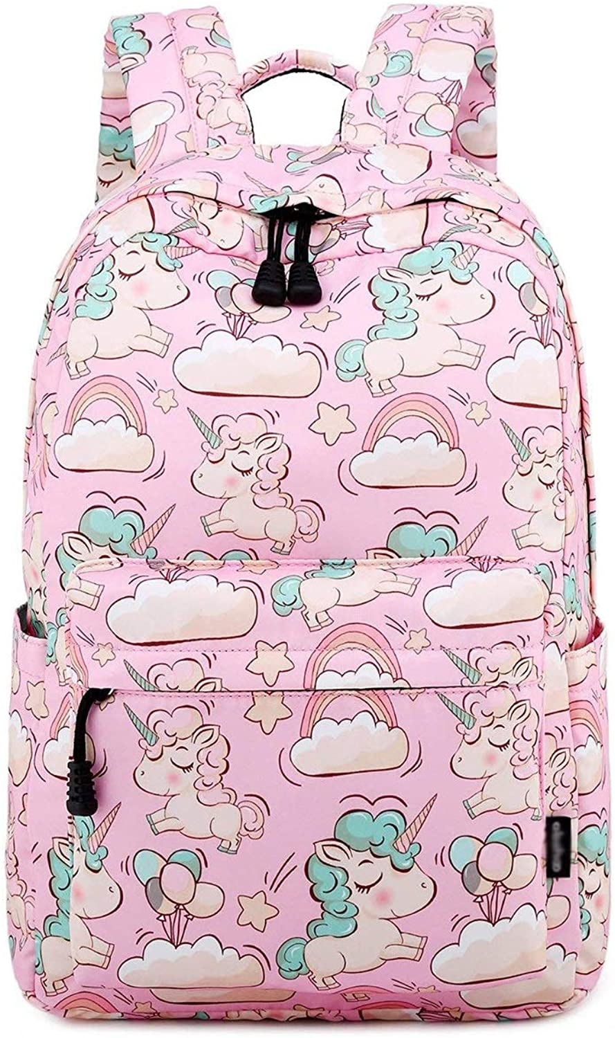 TLMY Student Waterproof Large Capacity Schoolbag Campus Sweet Backpack backpack (color   PINK)