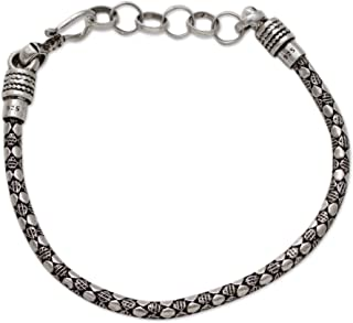 925 Sterling Silver Men's Chain Bracelet, 8