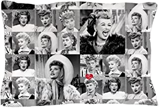 CafePress I Love Lucy Face Collage Standard Size Pillow Case, 20