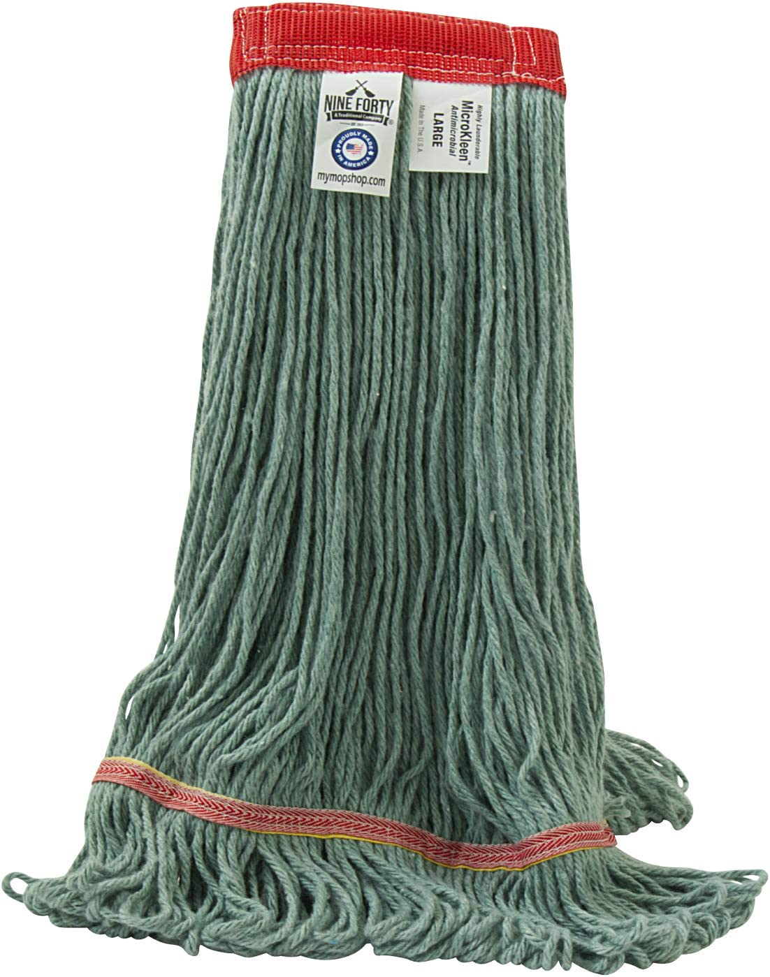 Now free shipping NINE FORTY - Antimicrobial Looped End Mop Head Refill USA Wet supreme