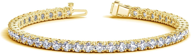 2-20 Carat Certified Classic Diamond Value Bargain Colle Tennis Popularity Bracelet
