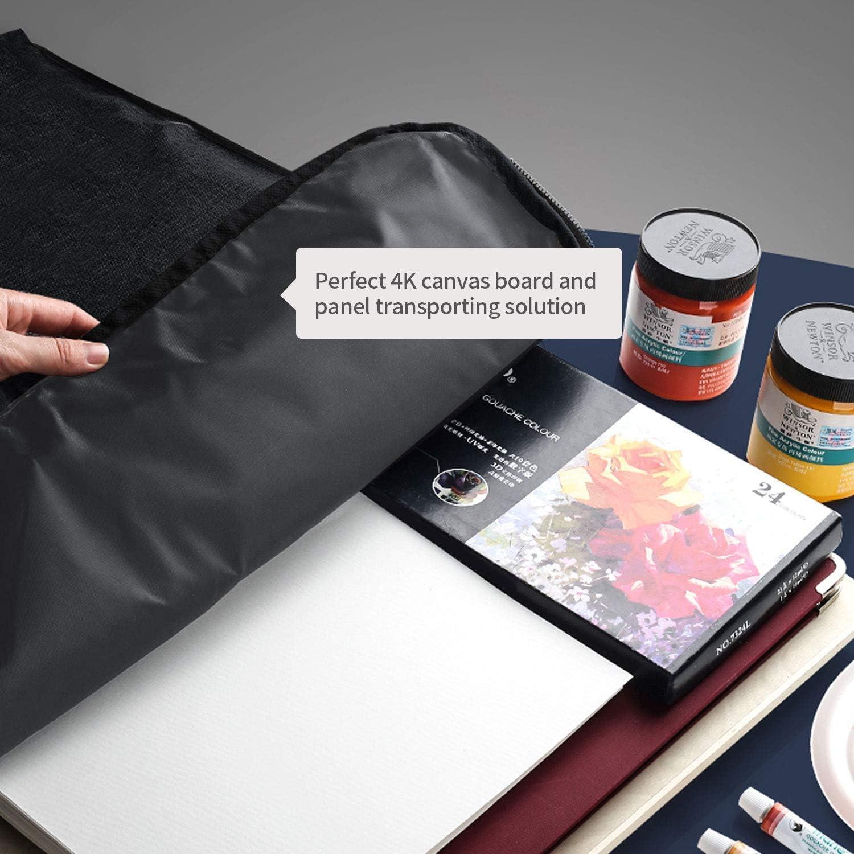 portfolio Borsa per tavole da disegno pittura strumenti per disegno nero borsa multifunzione per dipingere tavoletta da disegno borsa per il trasporto cartellina da viaggio