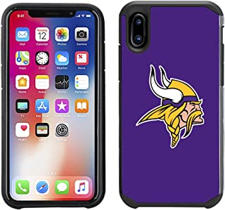 Prime Brands Group Cell Phone Case for Apple iPhone X - NFL Licensed Minnesota Vikings Textured Solid Color