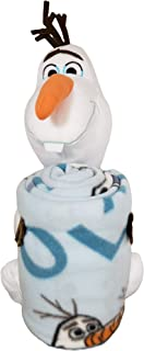 Disney Frozen 2 Olaf Knows Character Pillow and Fleece Throw Blanket Set, 40