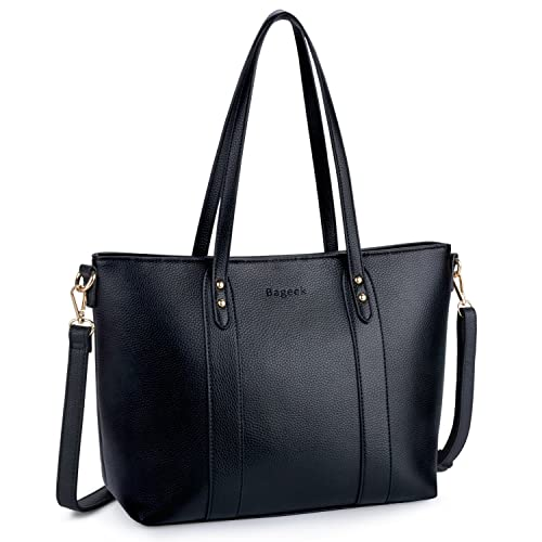 Bageek Tote Bags for Women Pu Leather Tote Purses Black Purses and Handbags  Women Classic Tote 913c2ea2e