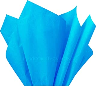 Flexicore Packaging Turquoise Blue Gift Wrap Tissue Paper Size: 15 Inch X 20 Inch | Count: 100 Sheets | Color: Turquoise