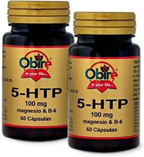 Triptofano (5-HTP 100 mg.) + magnesio + B-6. 60 cápsulas (Pack 2 unid.)