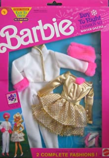 Barbie Day To Night Fashions WINTER DAZZLE 2 Fashion Set w Faux FUR (1991 Arco Toys, Mattel)