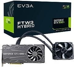 EVGA GeForce GTX 1080 Ti FTW3 HYBRID GAMING, 11GB GDDR5X, HYBRID & RGB LED, iCX Technology - 9 Thermal Sensors Graphics Ca...