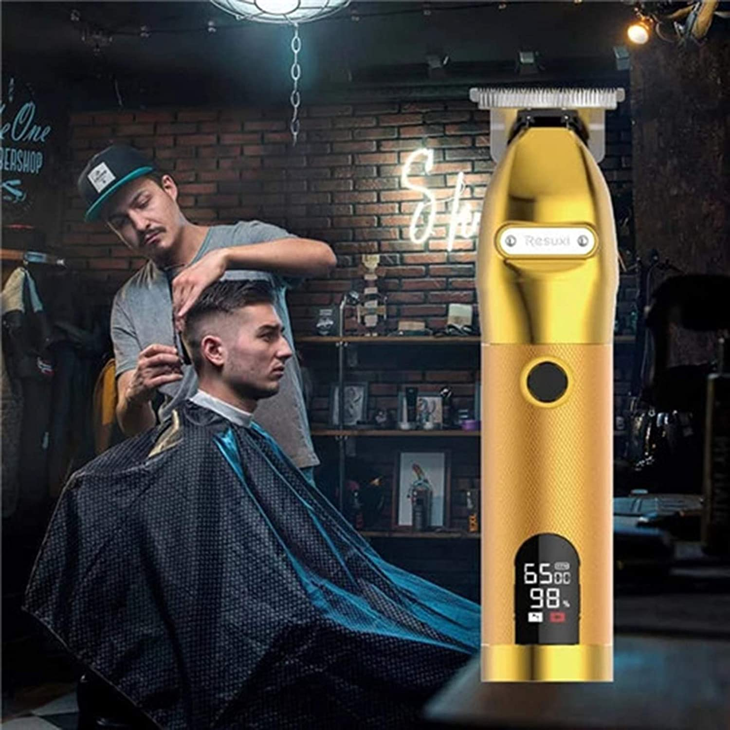 Yutone Gold Skeleton Cordless Hair LCD Display Hai Power Trimmer Manufacturer OFFicial Max 63% OFF shop