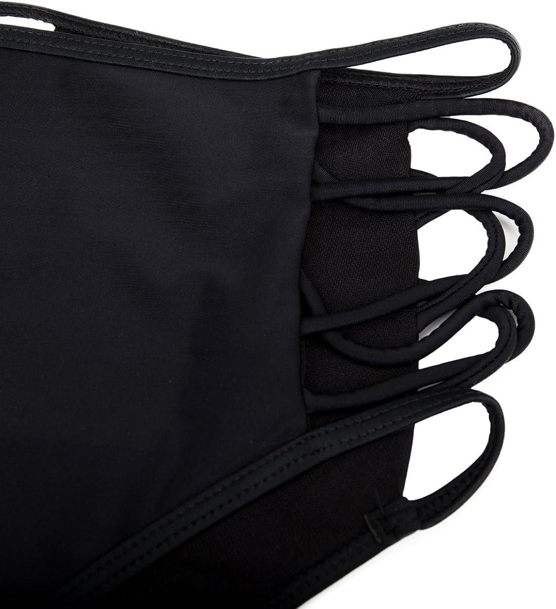 SAYFUT Women's Sexy Bikini High Waisted Strappy Brief Bottom Solid Tankini Swimsuit