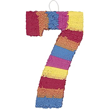 Multicolor Number 7 Pinata