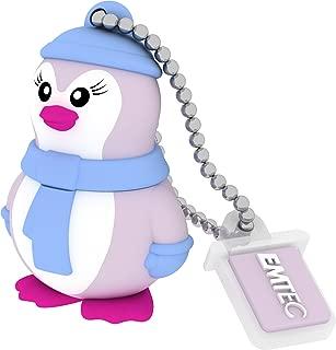 EMTEC Animalitos 8 GB USB 2.0 Flash Drive, Baby Penguin