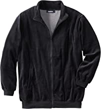 KingSize Men's Big & Tall Velour Full-Zip Jacket
