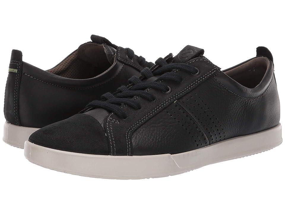 ECCO Collin 2.0 Trend Sneaker (Black Suede/Black Leather) Men