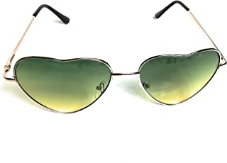 KGM Accessories Lunettes de Soleil en Forme de cœur - Green Tint