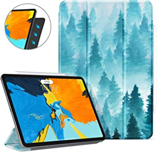 Ayotu Case for iPad Pro 11 Inch 2018,Strong Magnetic Ultra Slim Minimalist Smart Case with Auto Sleep/Wake,Support Cover's Back fold adsorption,Trifold Stand Cover for iPad Pro 11 Inch 2018,Forest