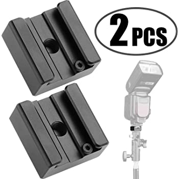 JJC Standard Hot Shoe Adapter with Extra PC sync Connection Port /& 3.5mm Mini Phone Connection Port for Connecting Cameras to Additional Off-Camera Flash,Studio Light,Strobes or Other Accessories