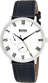 Hugo Boss Mens Quartz Watch, Chronograph Display and Leather Strap 1513618