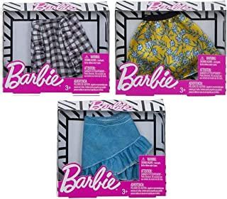 Doll Fashion Mini Skirts 3 Pack Bundle Girl Clothes Gift Accessories Skirt Set for Barbie