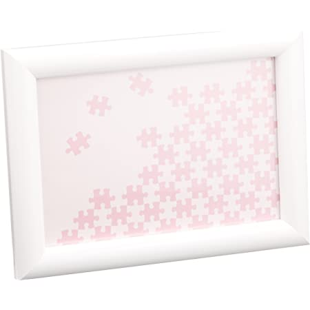 ビバリー 木製パズルフレーム ナチュラルパネル ホワイト(10×14.7cm) NN001-H