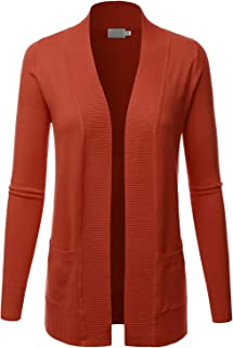 LALABEE Women's Open Front Pockets Knit Long Sleeve Sweater Cardigan(S~XL)