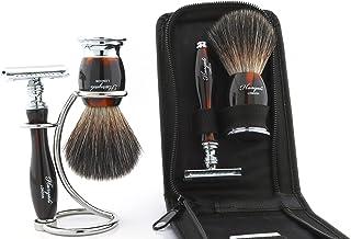 Haryali London Zestawy do golenia Luksusowy męski zestaw do golenia z podwójną krawędzią maszynka do golenia, szczotka do ...