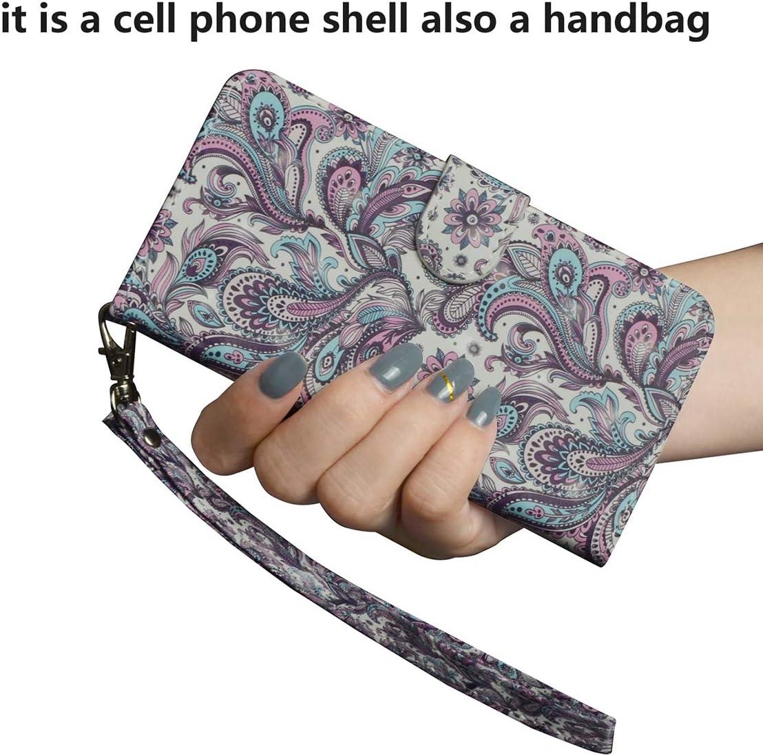 Housse en PU Cuir Portefeuille avec Fentes de Cartes Fonction Support 3D Flip Case Cover Etui pour Samsung Galaxy A42 5G SHUYIT Coque pour Samsung Galaxy A42 5G /Étui Chat et arbre