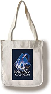 Lantern Press Whistler, Canada - Olympic Rings at Night - Contour - Photography 97510 (100% Cotton Tote Bag - Reusable)