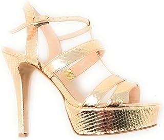 el más barato Guido Sgariglia - - - Sandalias de Vestir de Cuero para Mujer Dorado Platino  hasta un 65% de descuento