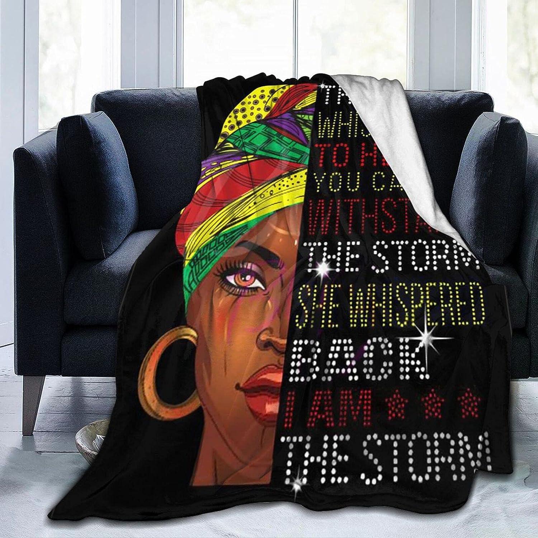 SYUTZSING African Black Girl Flannel Ranking TOP15 Fleece Under blast sales Soft Blanket Throw