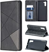 Galaxy Note 10 Plus Case, Note10+ 5G Case, iYCK PU Leather Flip Folio Magnetic Closure Protective Shell Wallet Case Cover for Samsung Galaxy Note10 Plus 6.8inch with Kickstand Stand - [A] Black