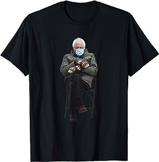 Bernie Sanders Mittens Sitting Inauguration Funny Meme Maglietta