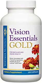Sponsored Ad - Dr. Whitaker's Vision Essentials Gold - Eye Health Supplement with 40 mg of Lutein Plus Vitamin A & Zeaxant...