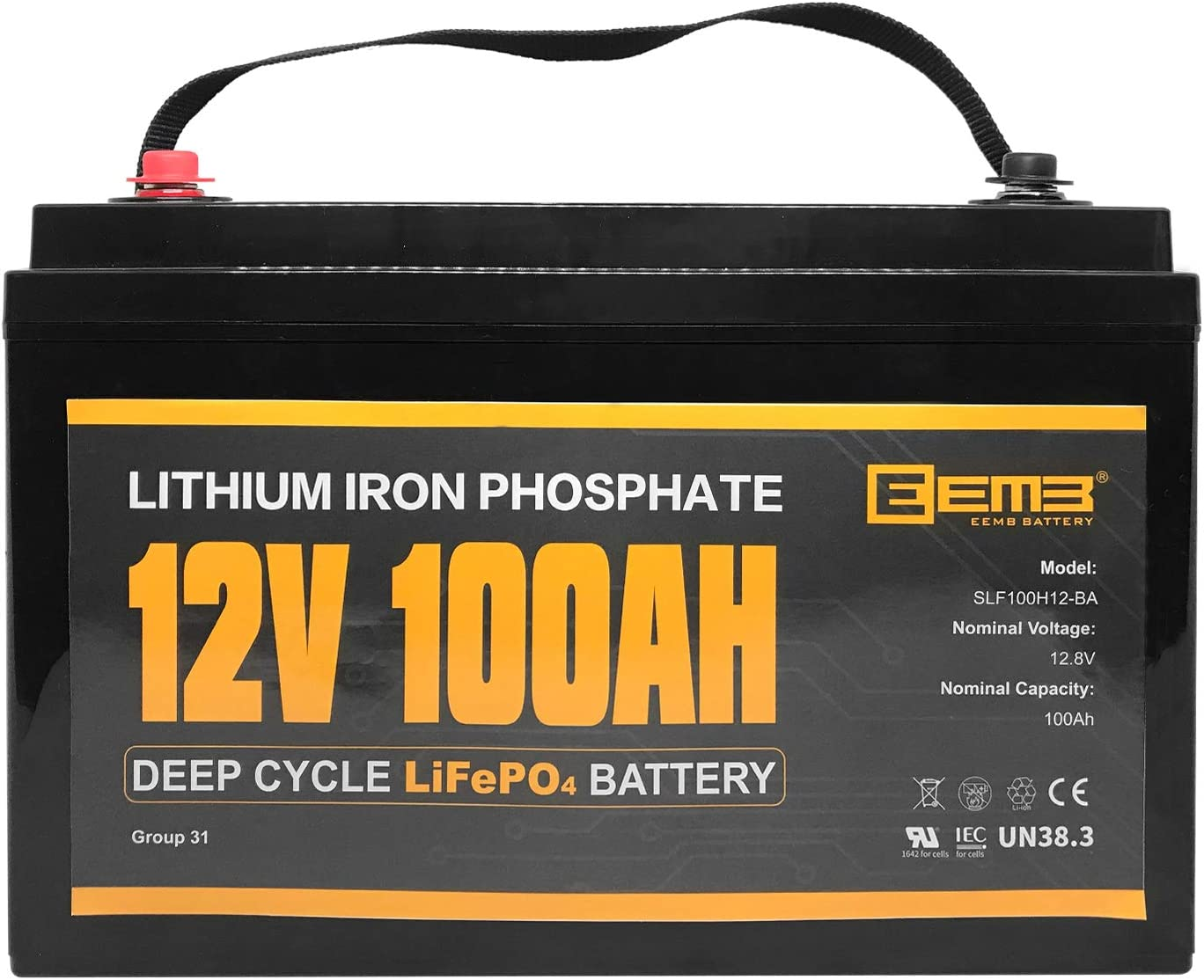EEMB 12V 100Ah LiFePO4 Lithium Battery Li Indefinitely Deep Over Selling Cycle 3000