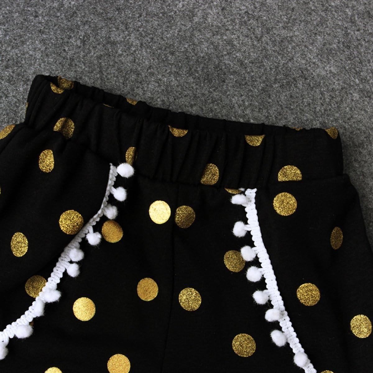 Conjunto de traje Puseky para ni/ña; con plumas pantal/ón corto y diadema White+Black Talla:3-4 a/ños camiseta sin mangas