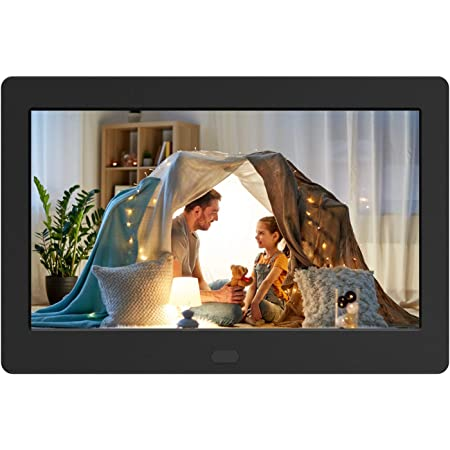 Digital Photo Frame with IPS Screen - Digital Picture Frame with 1080P Video, Music, Photo, Auto Rotate, Slide Show, Remote Control, Calendar, Time,1280x800, 16:9 (7 Inch Black)