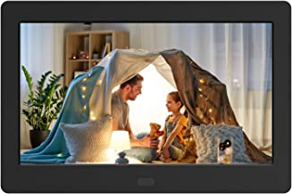 Digital Photo Frame with IPS Screen - 1280x800 Digital Picture Frame with 1080P Video, Music, Photo, Remote Control, Auto Rotate, Calendar, Time, Support USB and SD Card (7 Inch Black)
