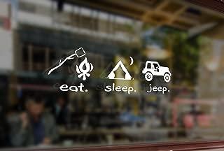 eat sleep jeep decal