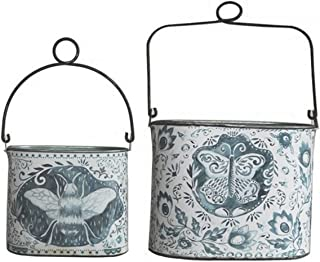 small decorative metal buckets