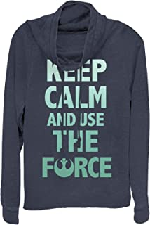 Star Wars Juniors' Keep Calm and Use The Force Cowl Neck Sweatshirt