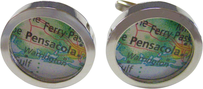 Kiola Designs Pensacola Florida Map Cufflinks