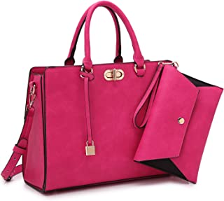 f1494ac302 Women s Fashion Handbags Tote Purses Shoulder Bags Top Handle Satchel Purse  Set 2pcs