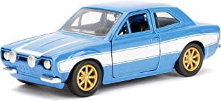Jada Toys Fast & Furious Movie 1970 Brian's Ford Escort Blue with White Stripes, 1/32 Die-cast Model Car