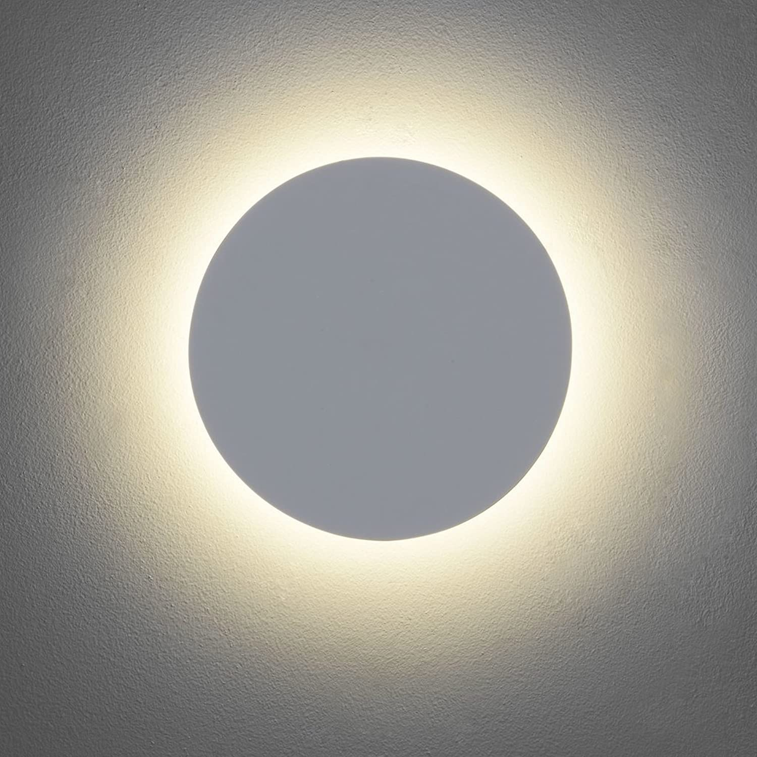 Astro LED Wandleuchte Eclipse Round 250 IP20  LEDs fest verbaut Inklusive Leuchtmittel  LED Strips 8W 452lm warmwei  7249