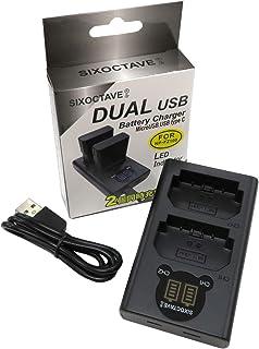 SIXOCTAVE SONY ソニー NP-FZ100 用 デュアル USB 急速互換充電器 カメラ バッテリー チャージャー BC-QZ1 [バッテリー2個まで同時充電可能 純正 互換電池共に対応 ] α9 / ILCE-9 / α7 III/ILCE-7M3 / α7R III/ILCE-7RM3