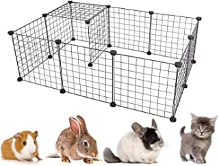 ZaneSun 12 Panels Metal Pet Playpen Tent Cats Exercise Pen Crate Cage Kennel Dog Foldable Fence Yard BarrierIdeal for Gui...