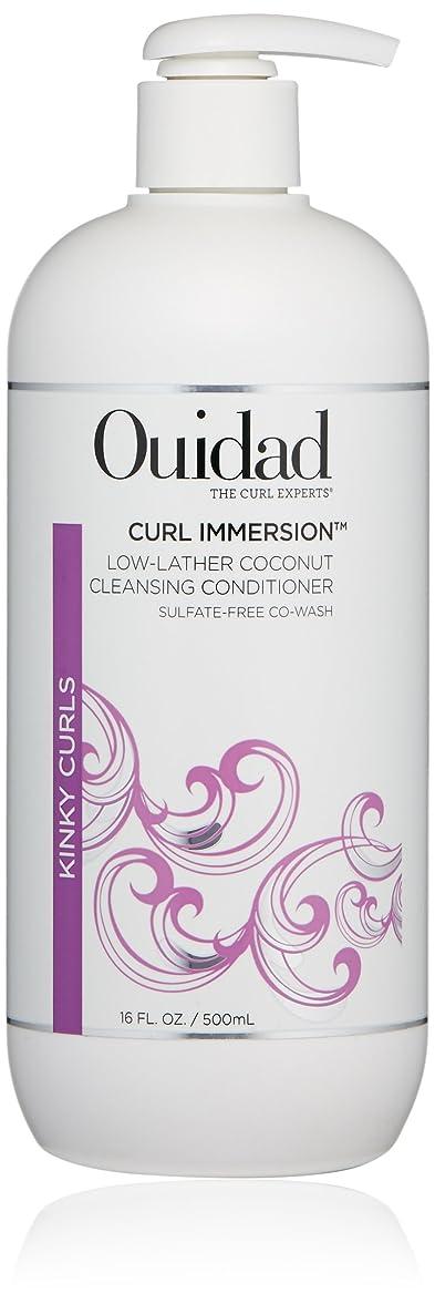 反毒ショッキング散髪ウィダッド Curl Immersion Low-Lather Coconut Cleansing Conditioner (Kinky Curls) 500ml/16oz並行輸入品